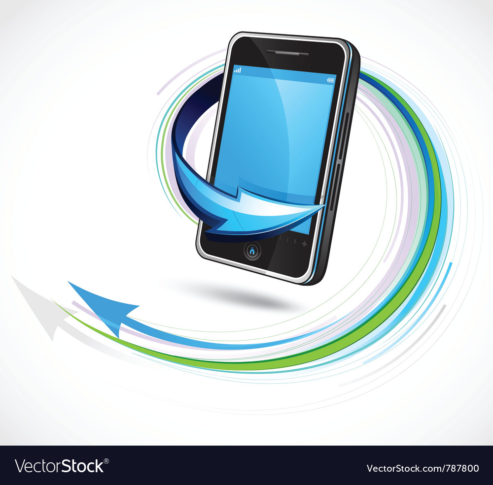 Futuristic cellphone vector image