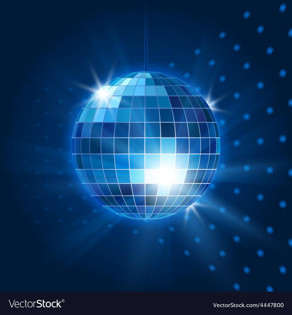 Mirror disco ball vector image