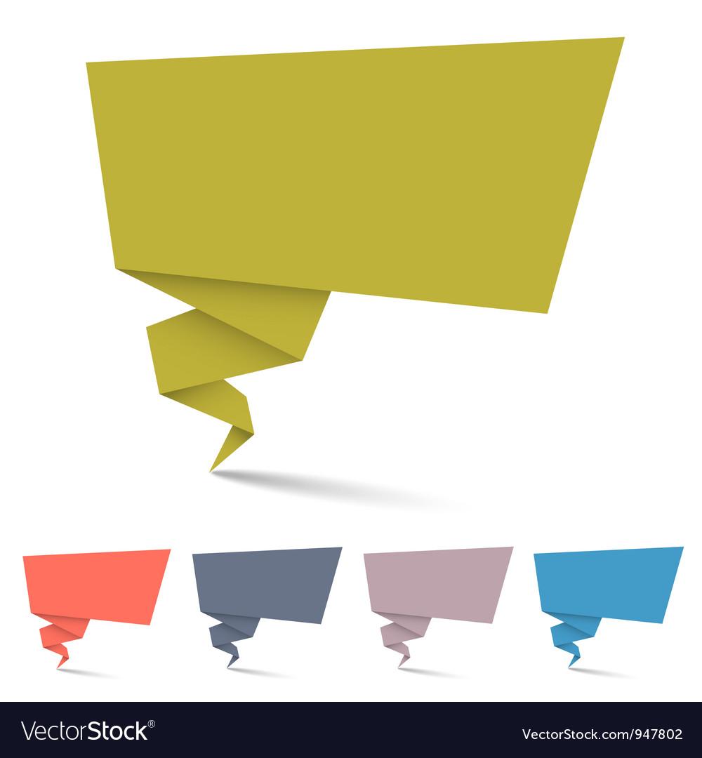 Origami speech bubbles vector image
