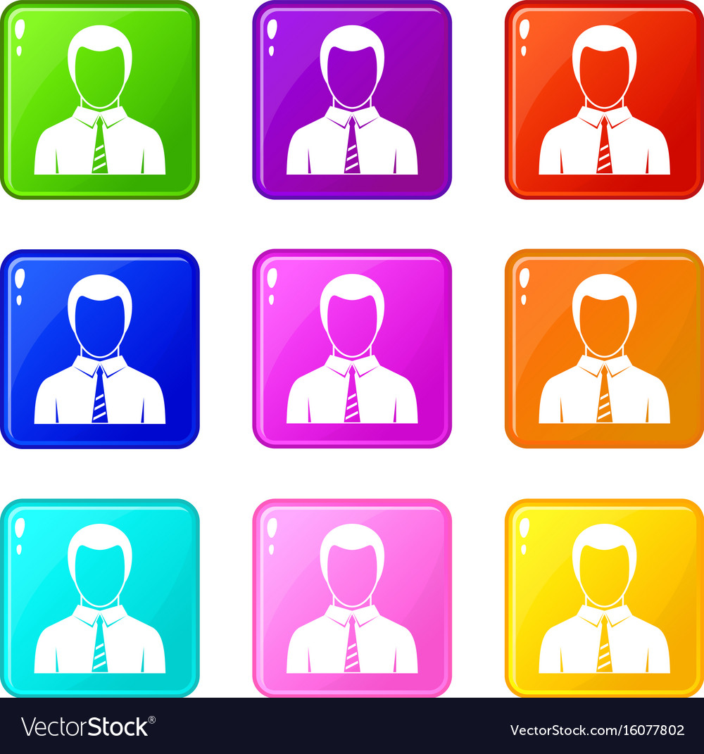 Businessman set 9 vector image