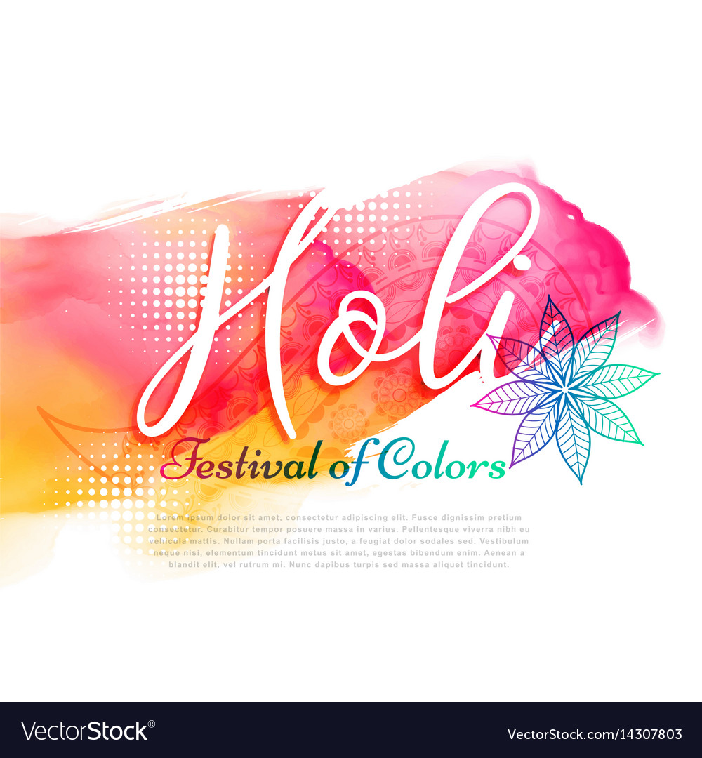 Poster of indian holi festival design vector image