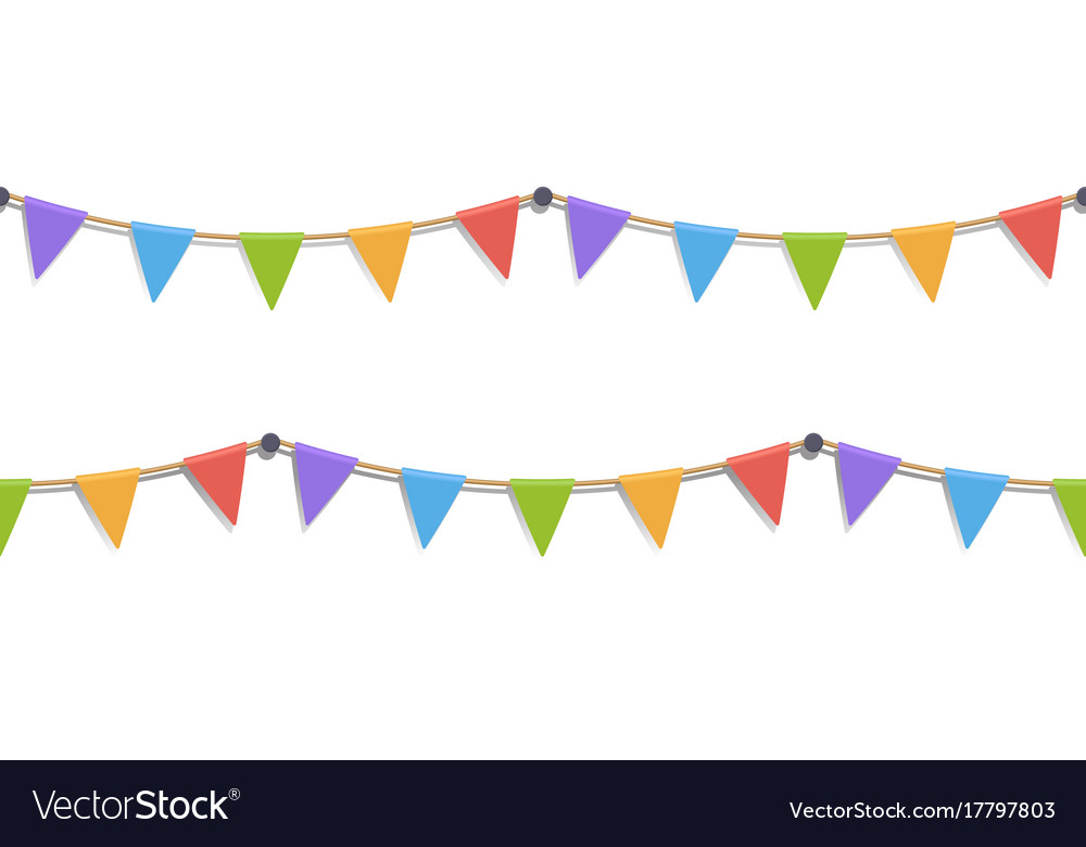 Seamless of flags vector image