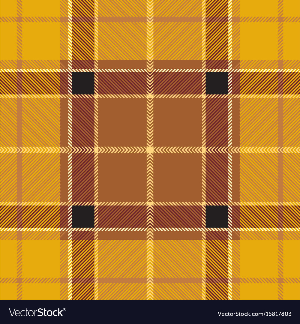 Yellow tartan plaid seamless pattern vector image