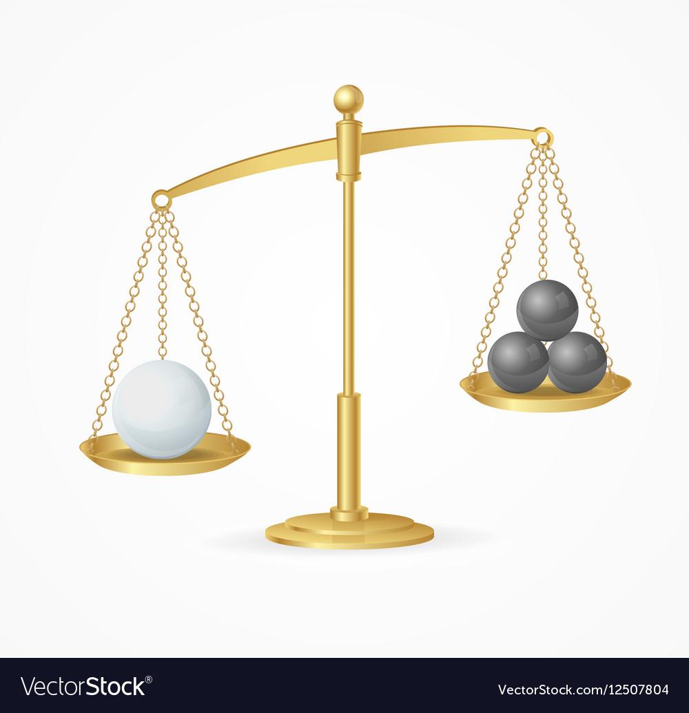 Balance Concept White True Win vector image