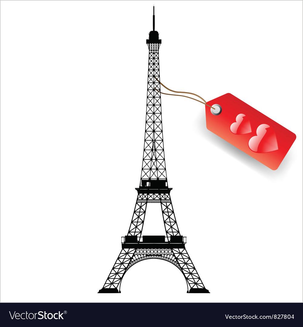 eiffel tower royalty free vector image vectorstock