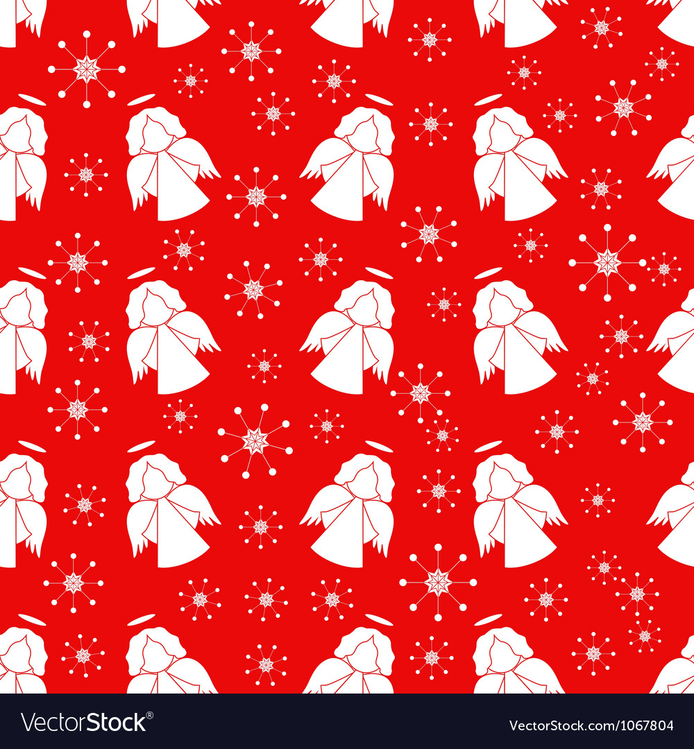 Seamless pattern with angels vector image