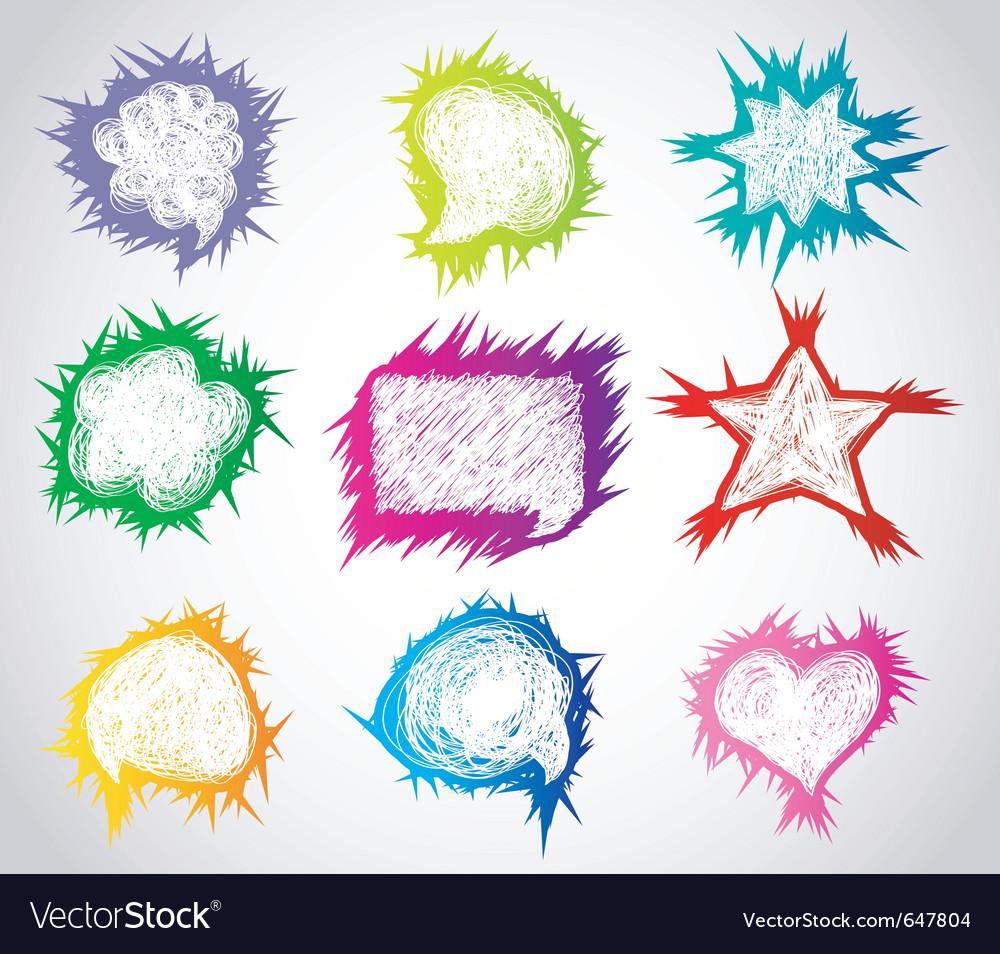 Speech bubble abstract vector image