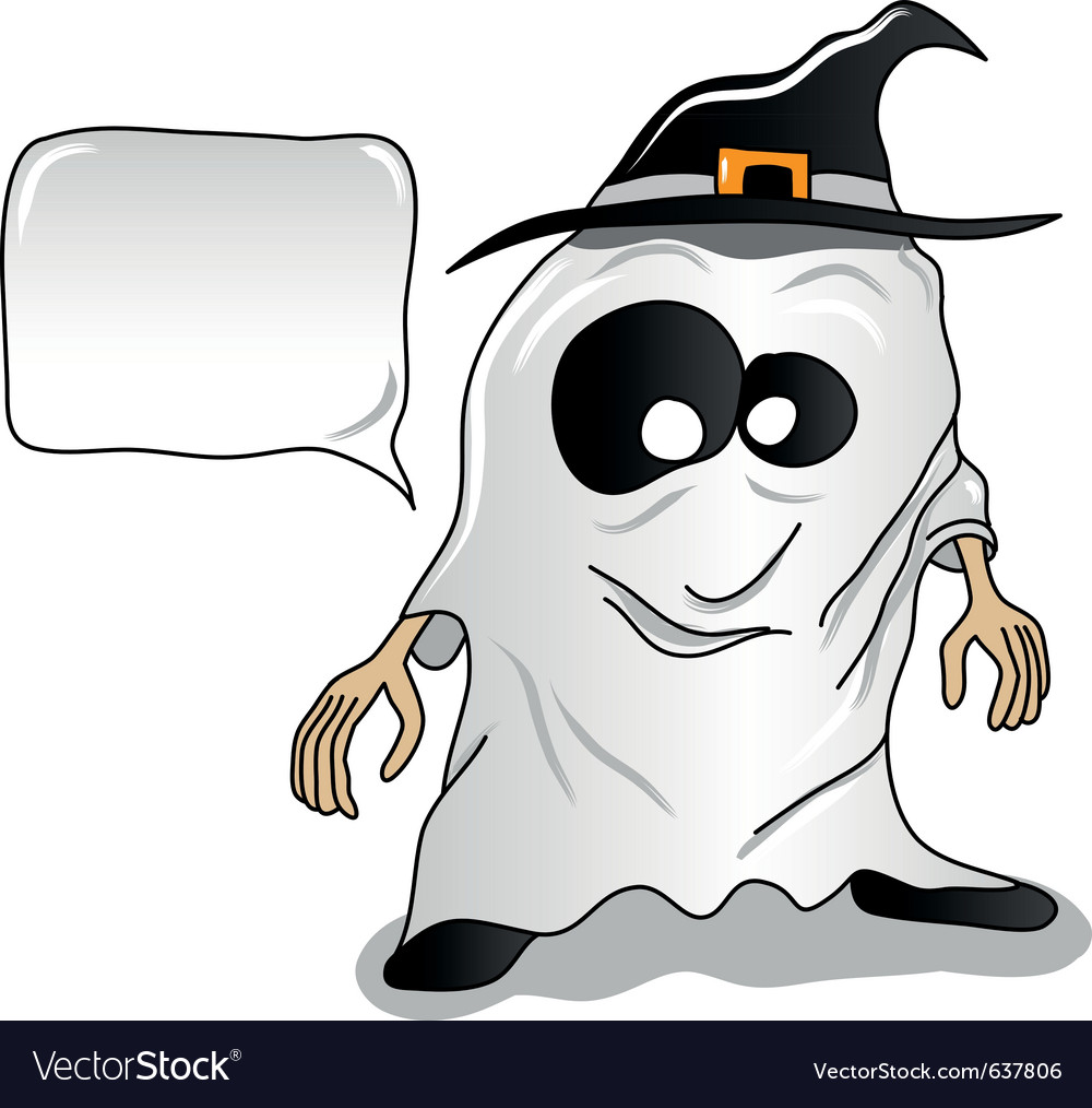 Ghost halloween vector image
