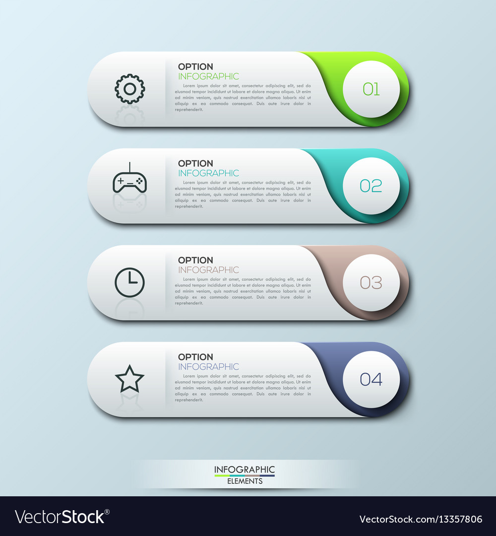 Infographic design template with 4 separate vector image