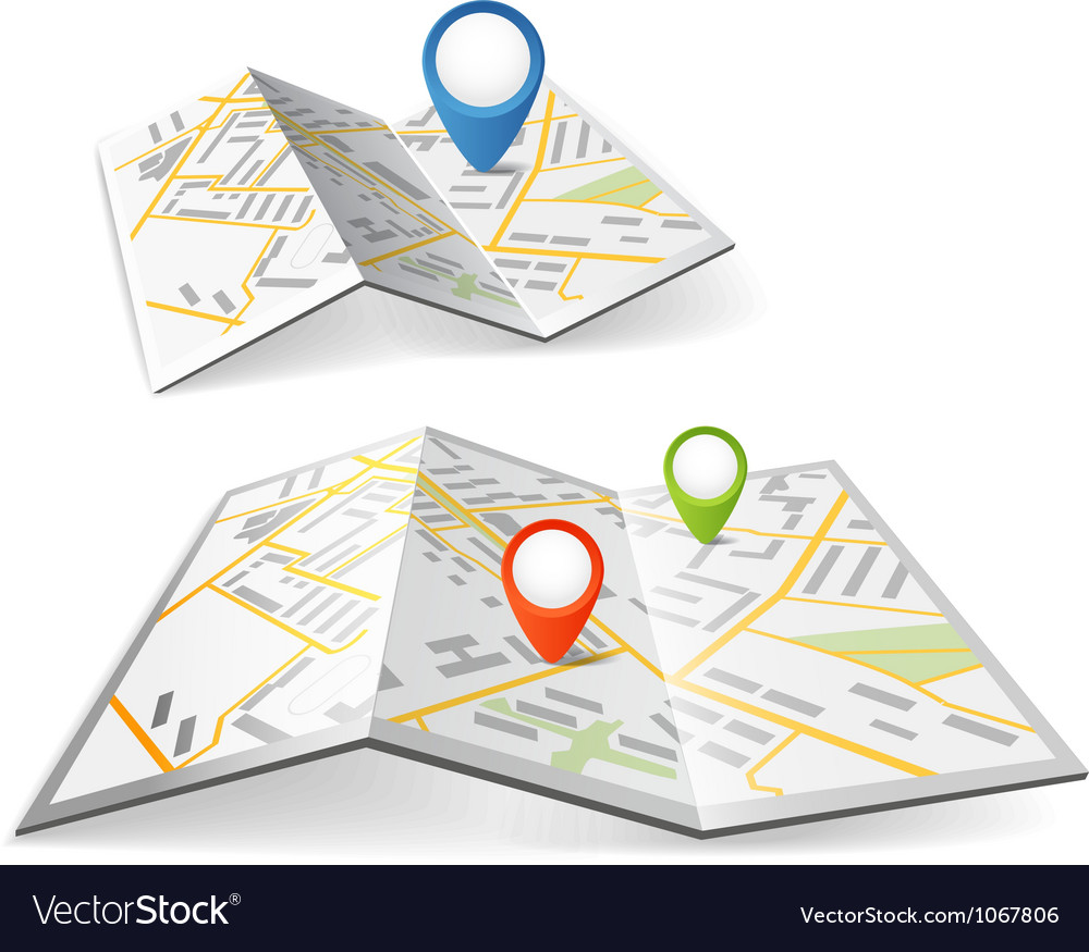 Maps with points vector image