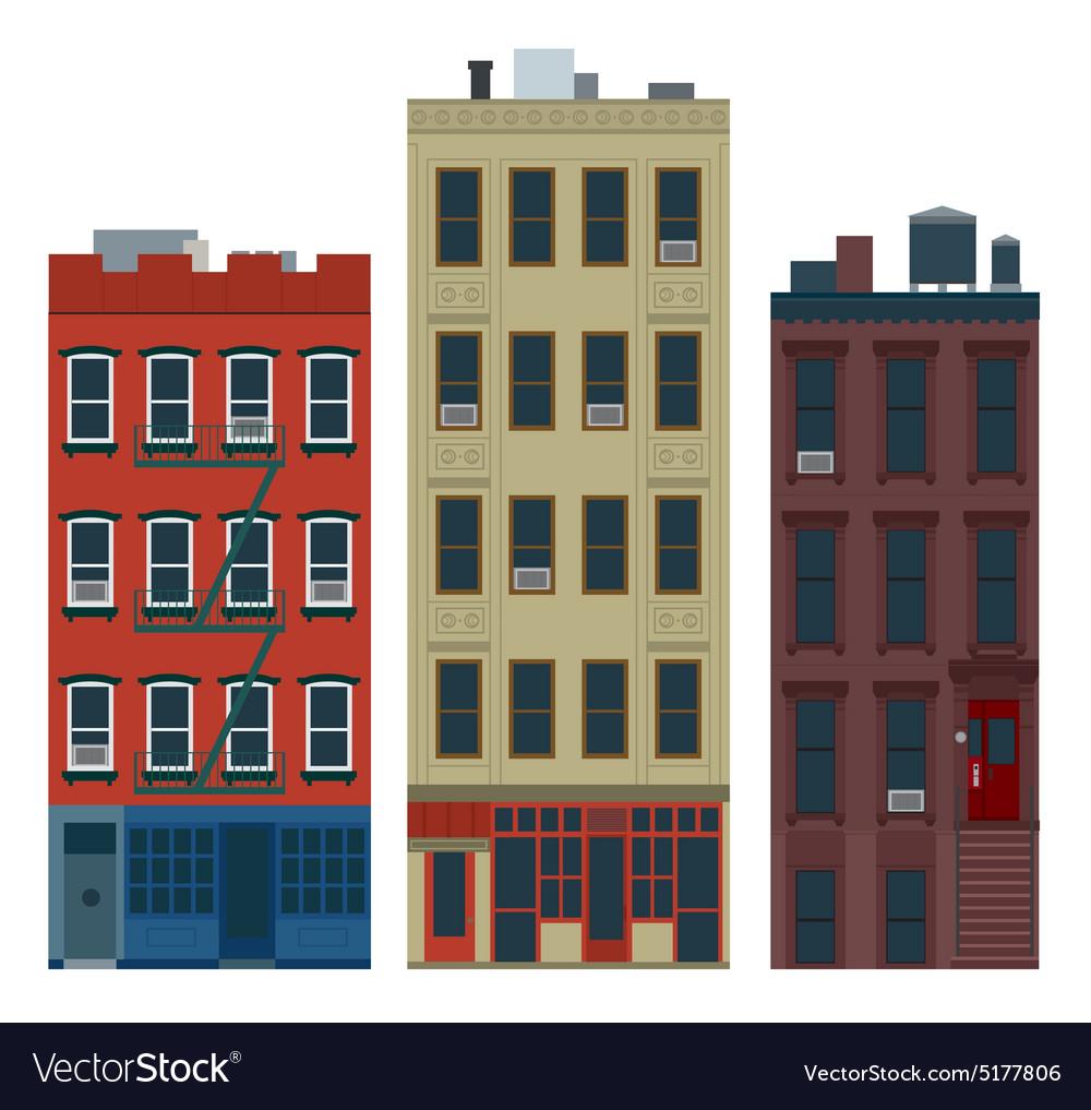 NY buildings vector image