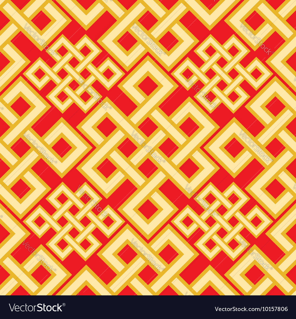 The endless knot seamless pattern Graphic ornament vector image