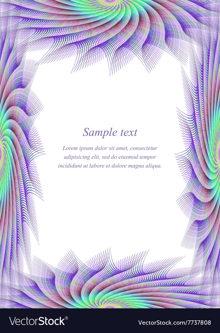 Colored page border design template Royalty Free Vector