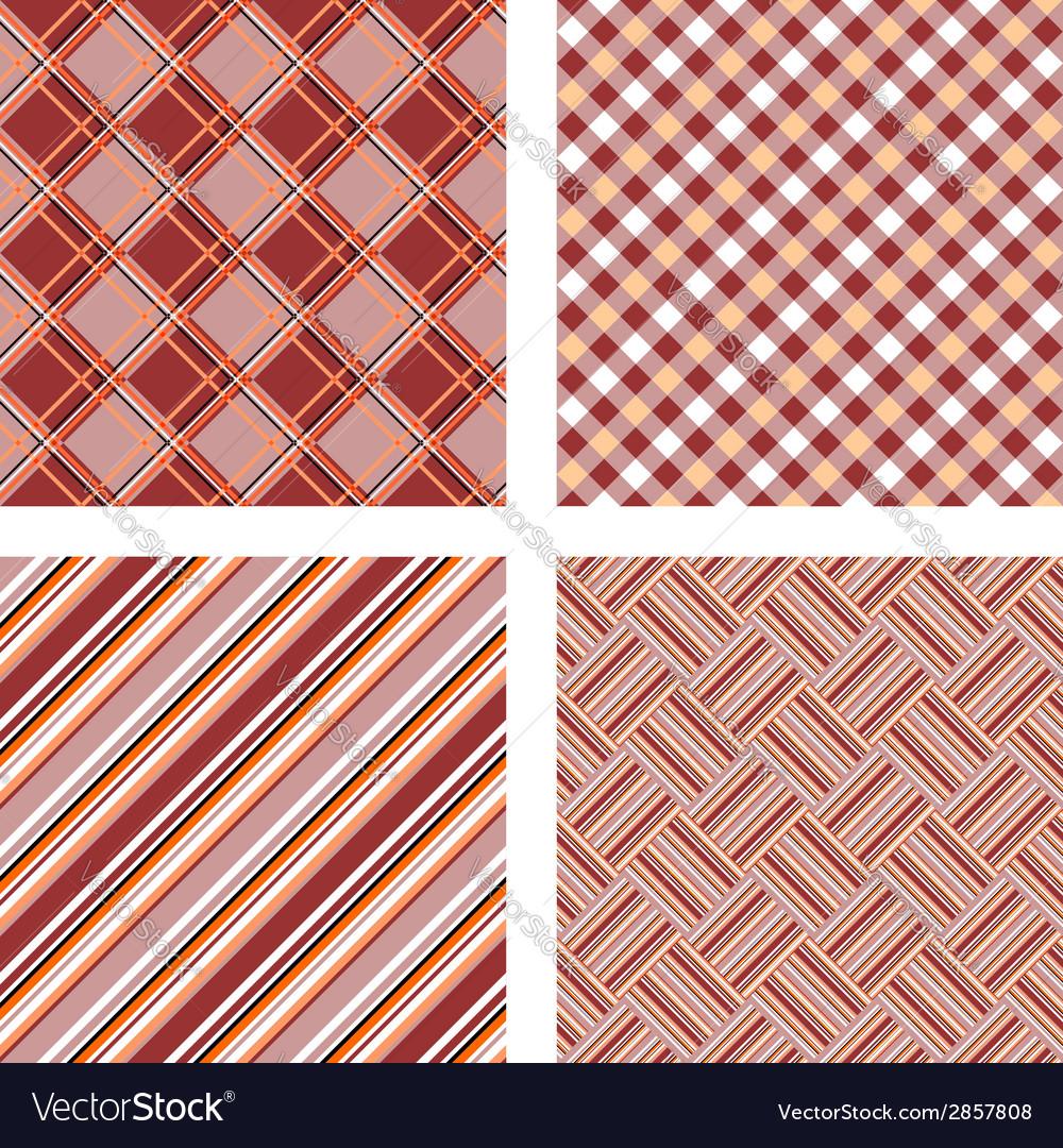Design seamless colorful kitchen patterns set vector image