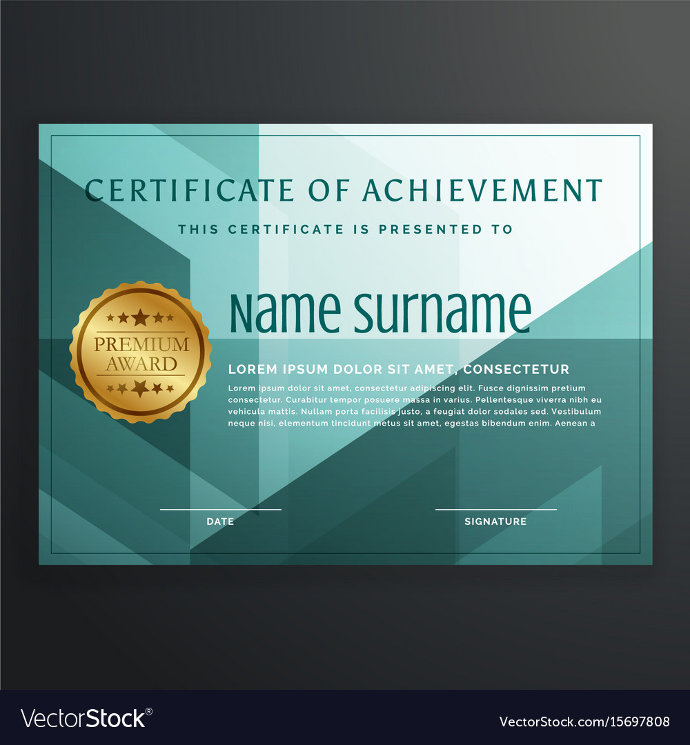 Modern award certificate template design in vector image yadclub