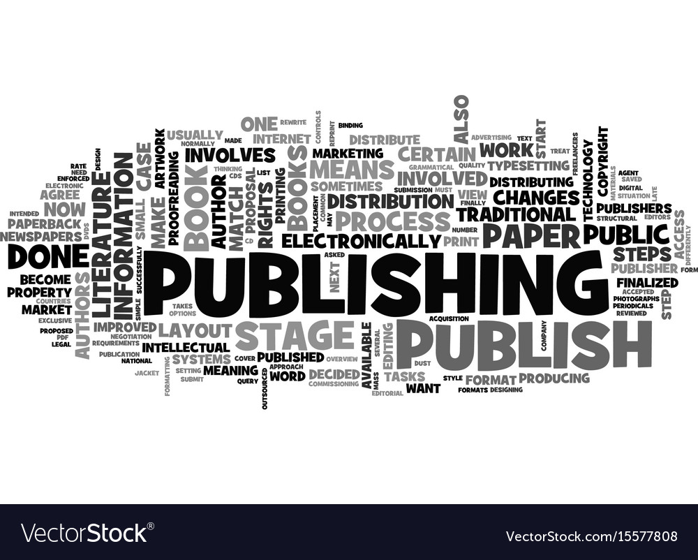 What does it mean to publish text word cloud vector image