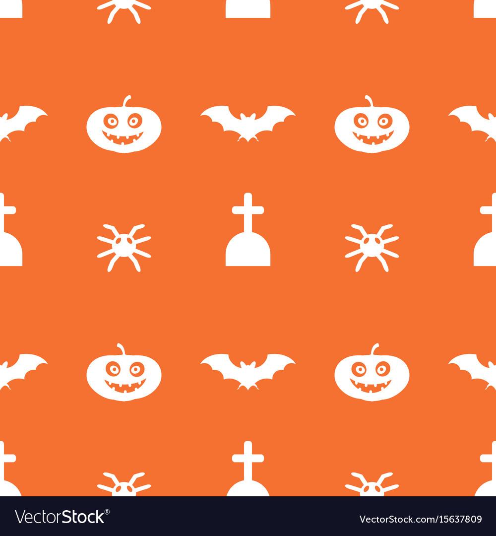 Digital orange happy halloween vector image