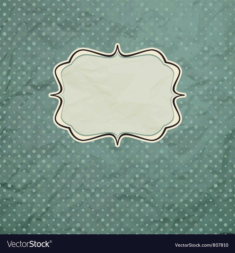Vintage polka dot card vector image