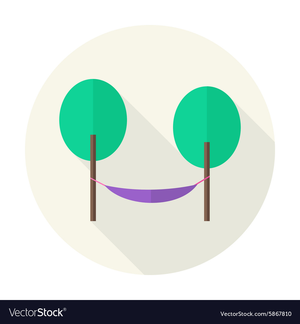 flat nature trees with hammock circle icon with vector image flat nature trees with hammock circle icon with vector image  rh   vectorstock