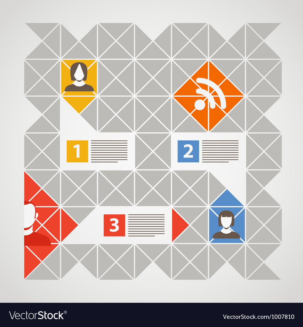 Modern color social media content vector image