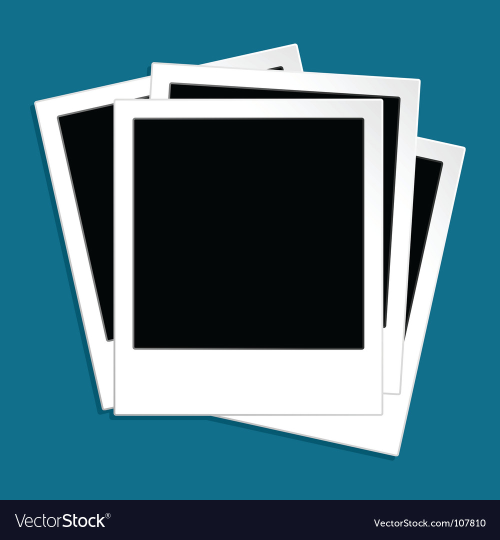Photo template vector image