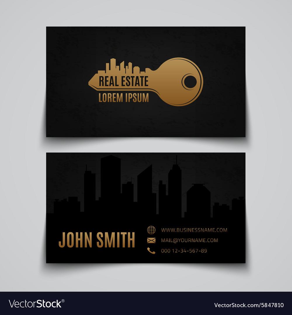 Luxury Real Estate Business Card Template MyCreativeShop ...