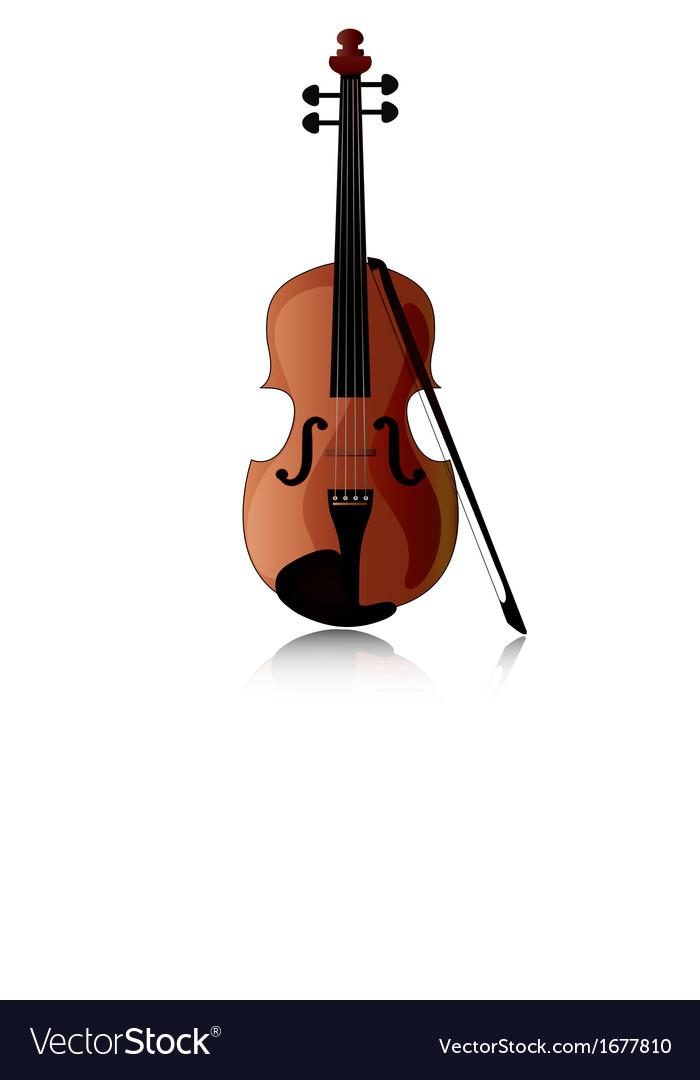 Violin vector image