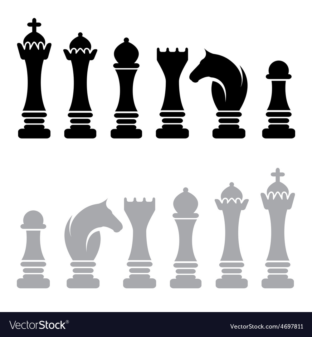 Chess icons design template vector image