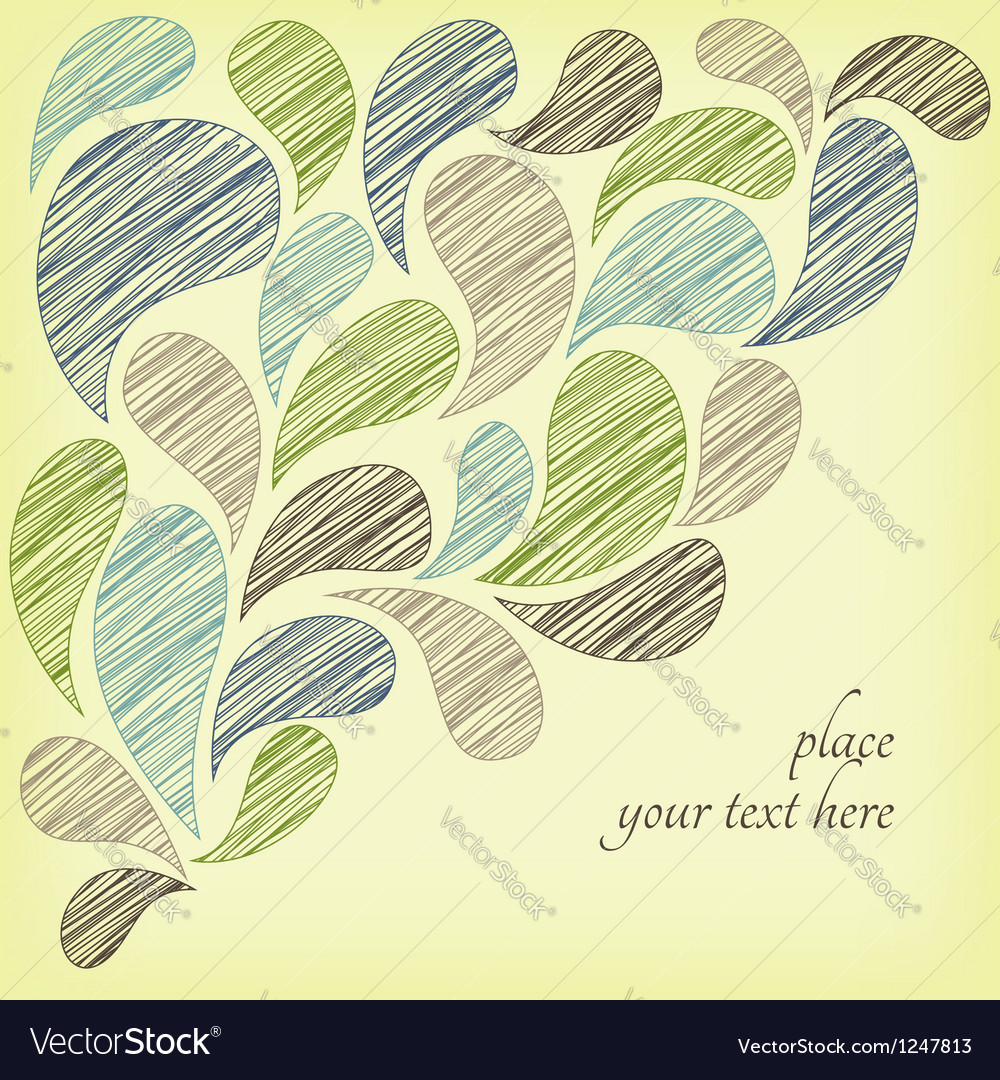 Paisley doodle frame vector image