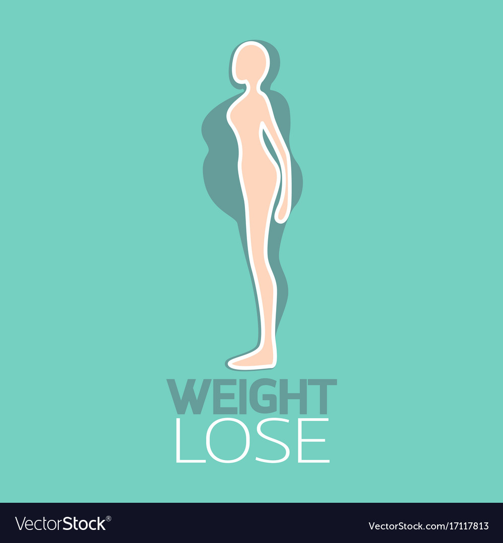 Weight lose logo icon vector image