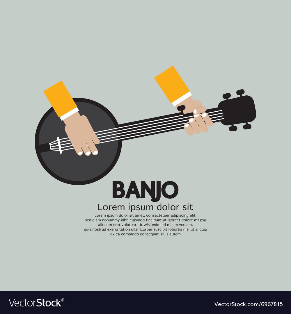 Flat Design Banjo Playing vector image