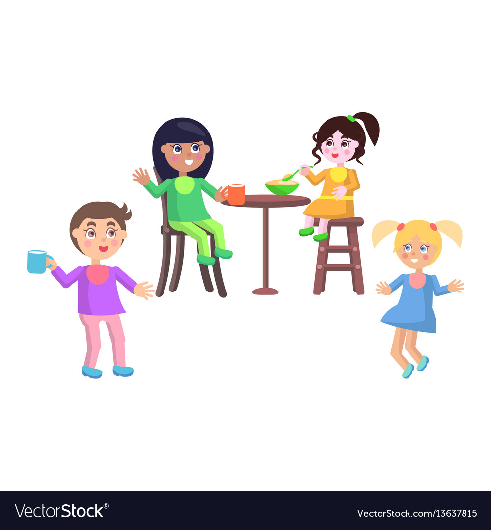 Set of children characters happy mother day set vector image