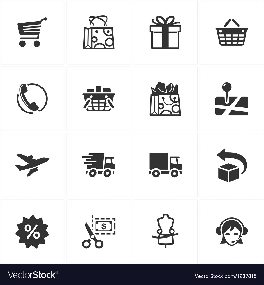 Shopping and E-commerce Icons - Set 1 vector image