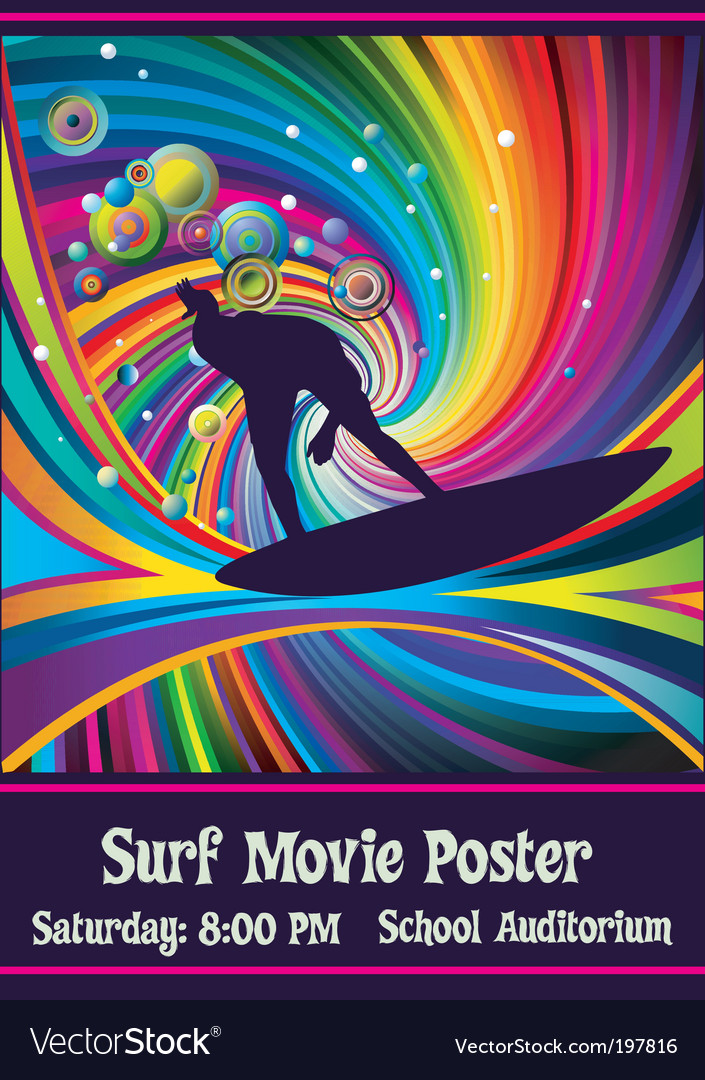Rainbowsurfer Vector Image