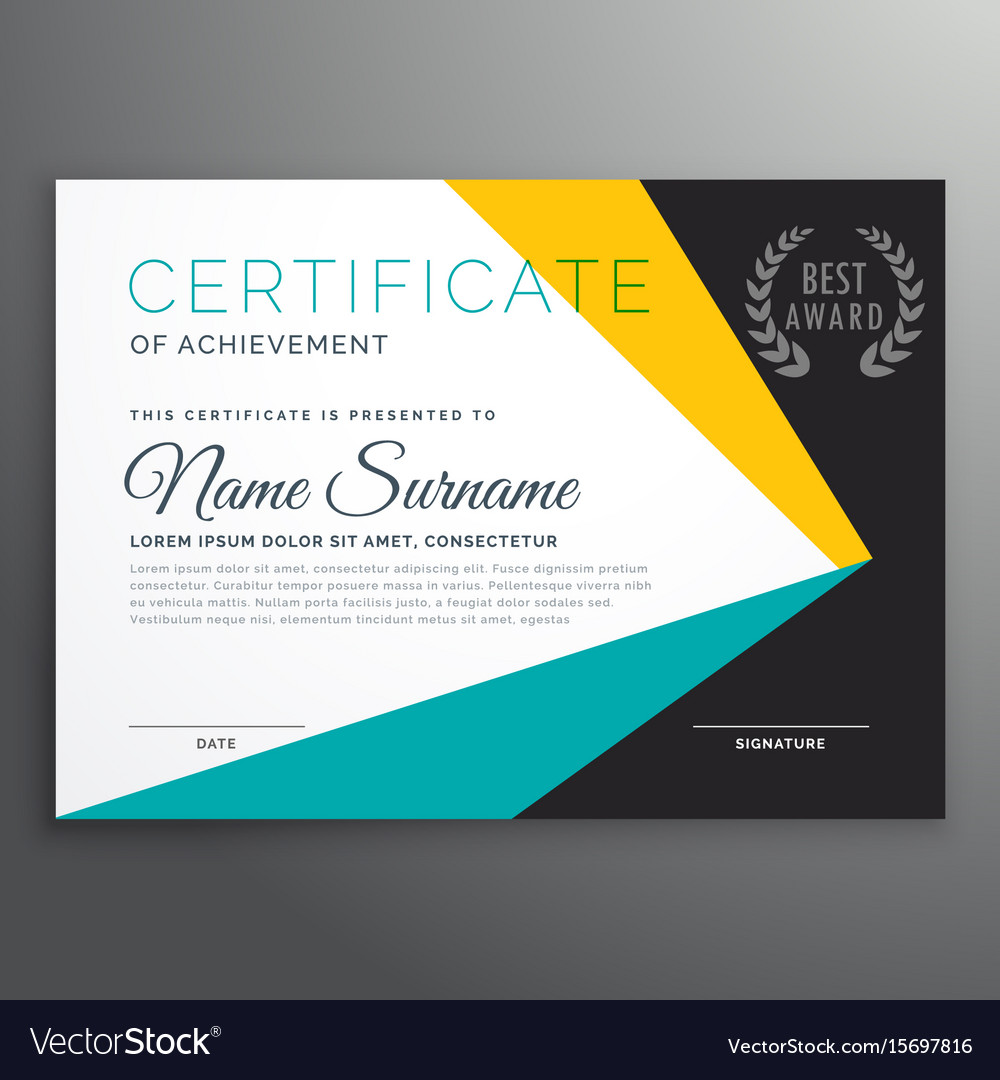 Modern certificate template with geometric shapes vector image modern certificate template with geometric shapes vector image xflitez Choice Image