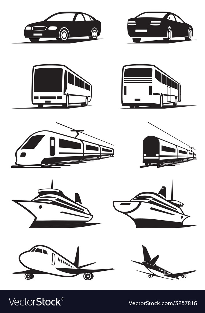 Passenger transportation in perspective vector image