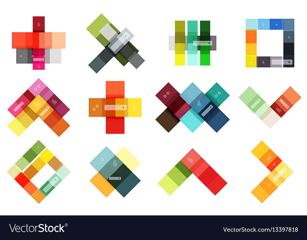 Abstract geometric line infographic templates vector image