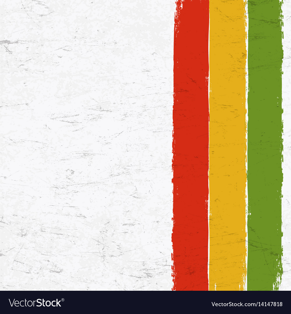 Rasta colors grunge background abstract template vector image