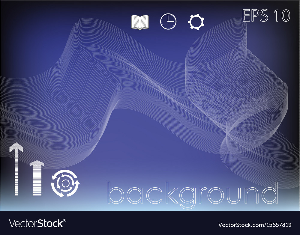 Blue background and white lines vector image