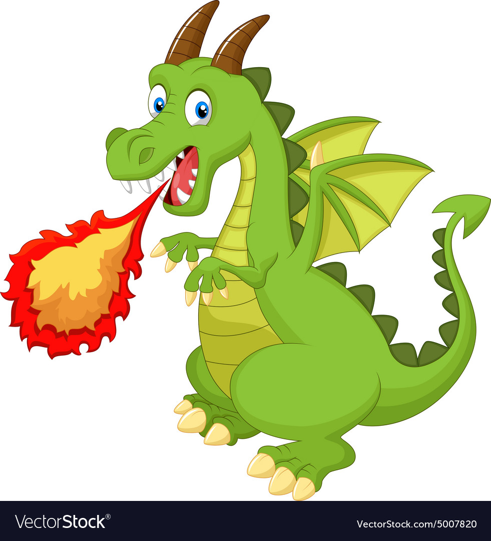 cartoon dragon with fire royalty free vector image sell clipart drawings shell clipart images