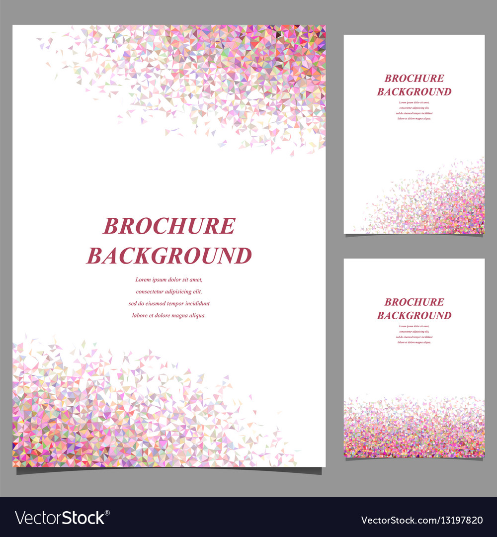Modern geometric abstract brochure template vector image