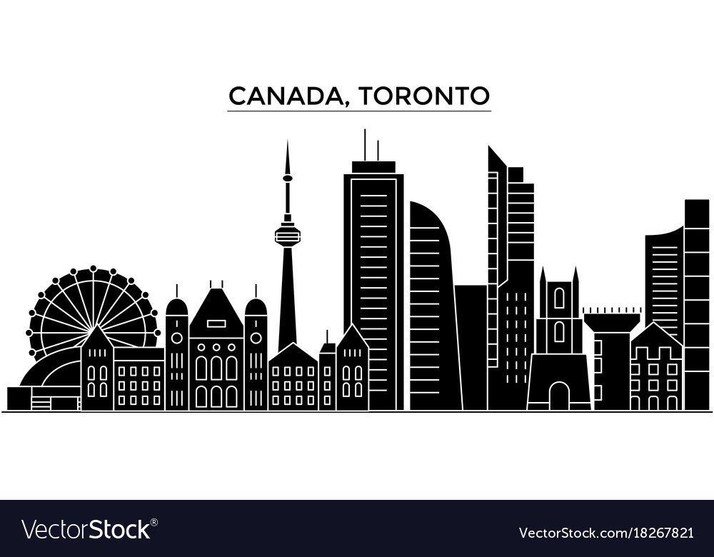 Canada toronto architecture city skyline vector image