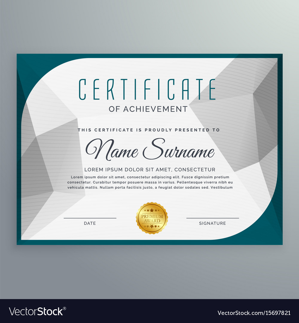 Creative Simple Certificate Design Template With Vector Image