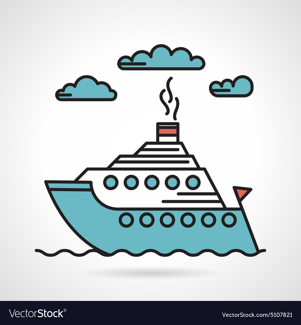 Steamer flat style icon vector image