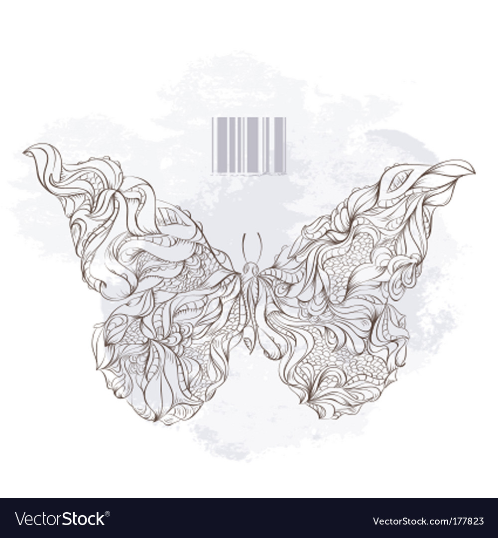 Bizarre butterfly vector image