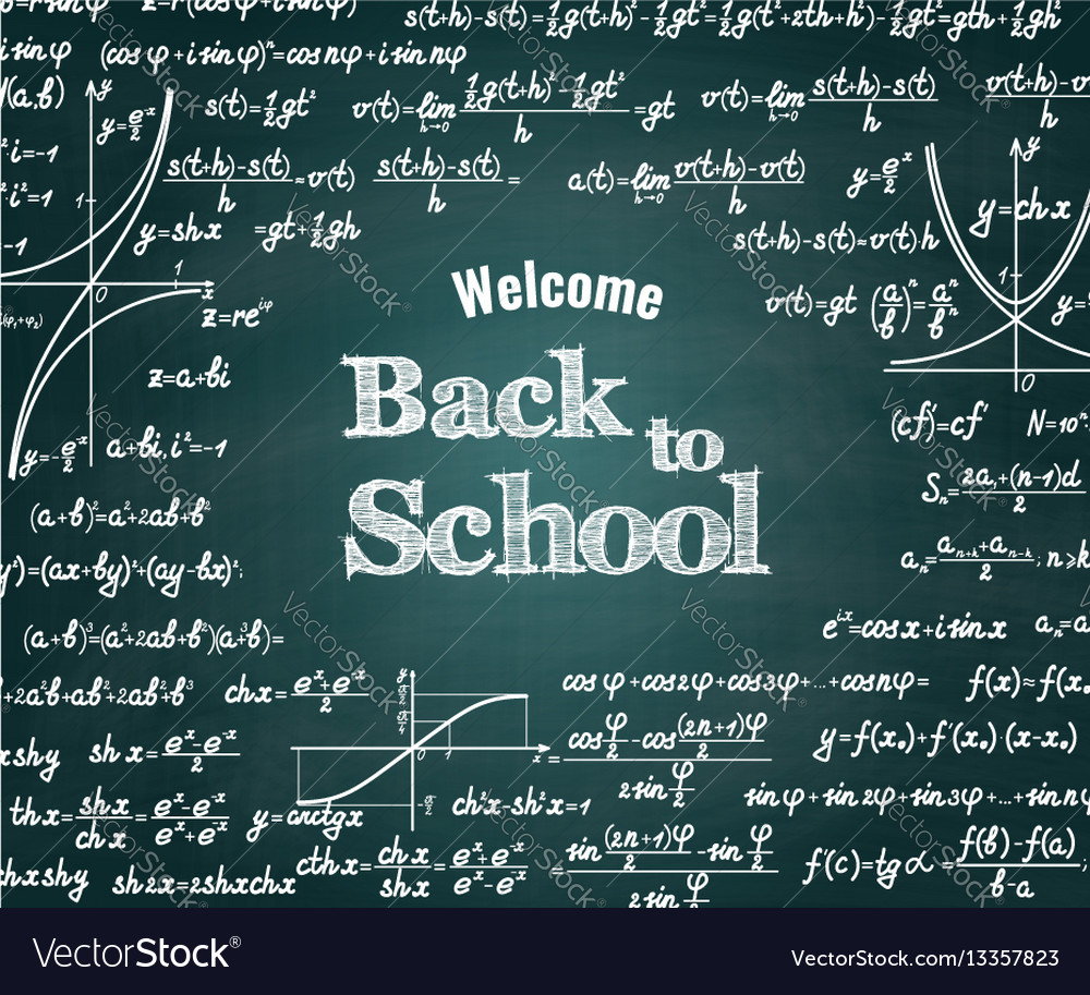 Mathematical back to school background vector image