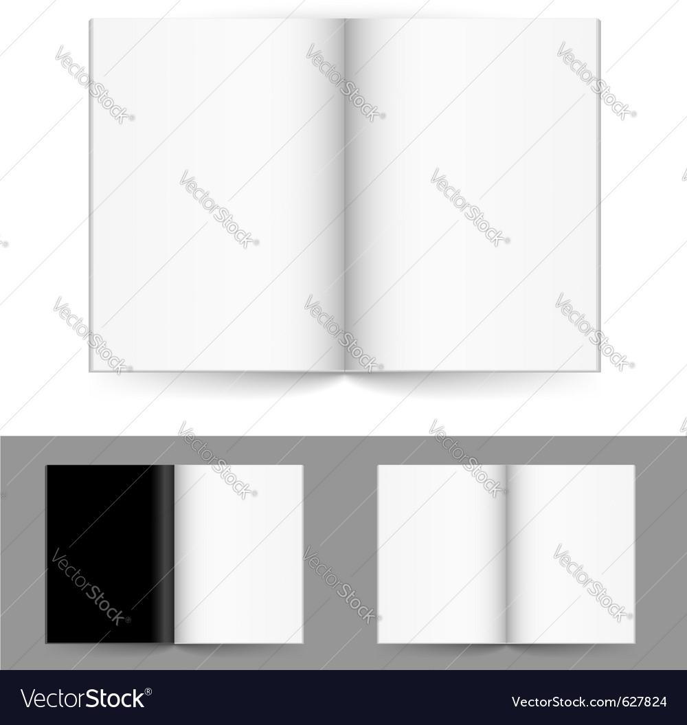 Blank magazine vector image