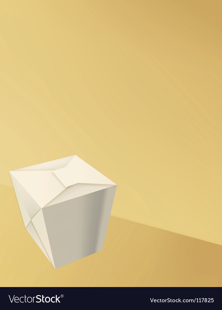 Takeout box vector image
