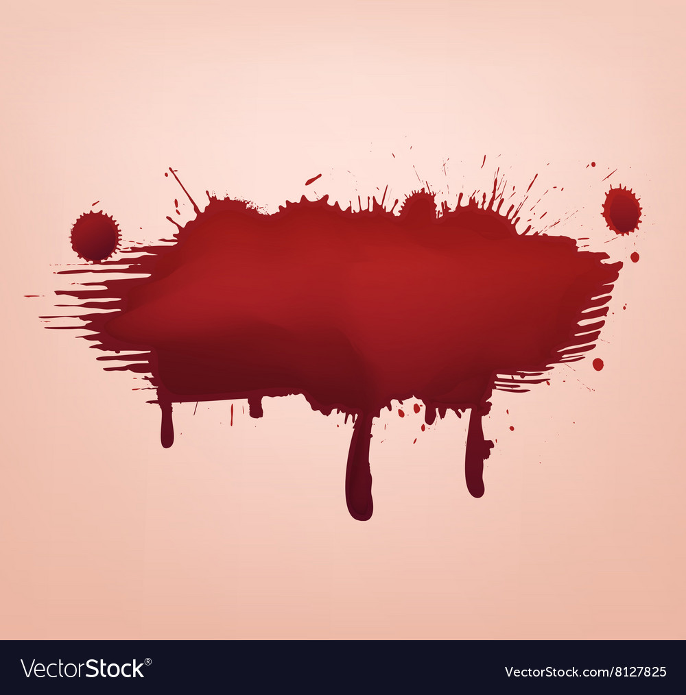 Blood blot abstract vector image
