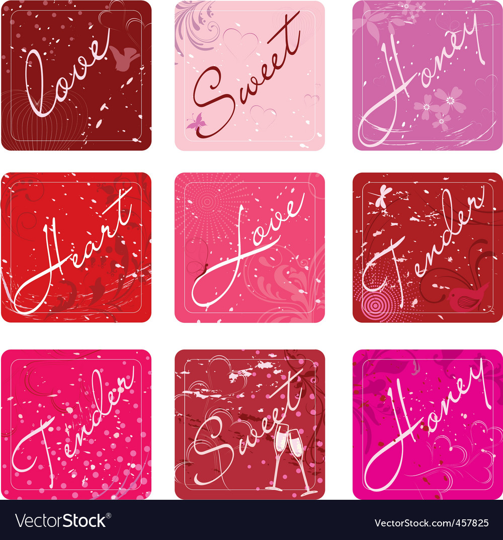 Love sticker vector image
